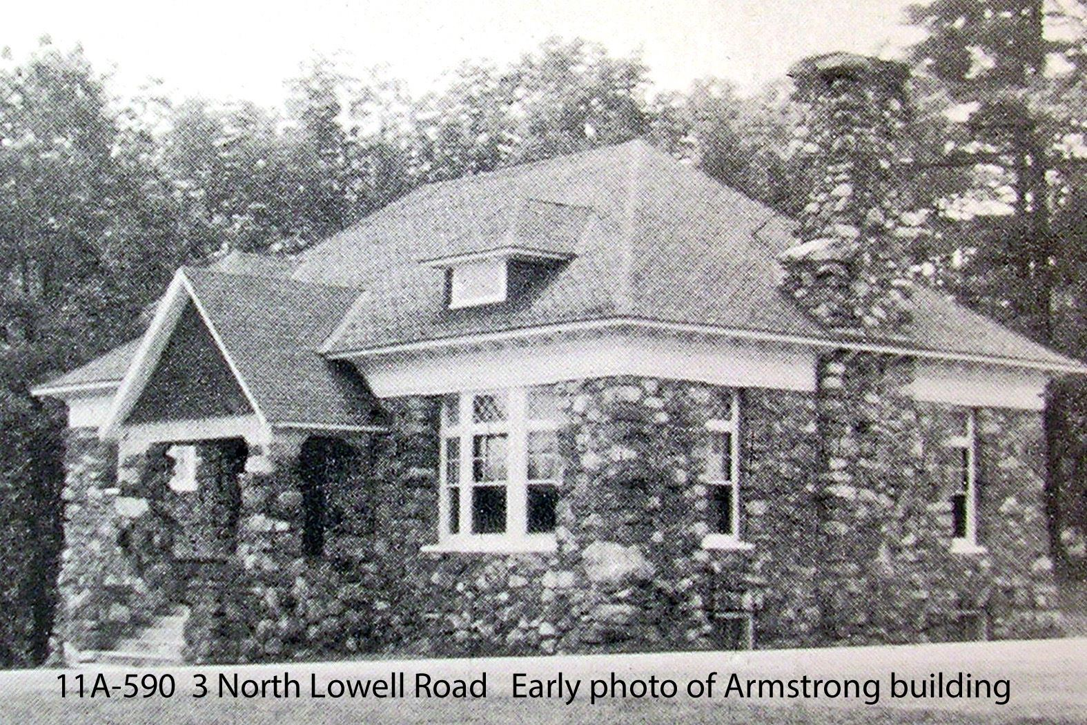 11A-590  3 North Lowell Road  Old view of Armstrong Memorial Building